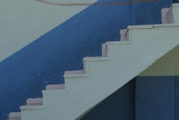 Light-colored paint makes your basement steps brighter and easier to see.
