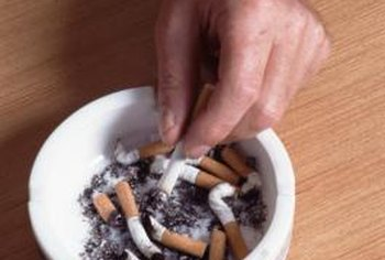 Cigarette smoke can leave nicotine stains on wood paneling.
