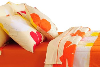 Make your own comforter with fabric that enhances your decor.