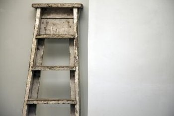 A wobbly wooden ladder needs to stay out of commission until you fix it.