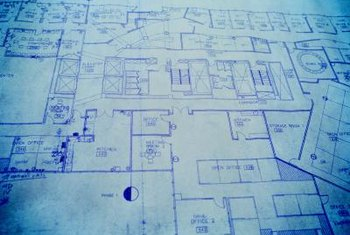 All the relevant information needed to construct a house can be found in the blueprints.