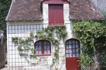 Neatly trimmed vines add a quaint, rustic ambiance to a house's facade.