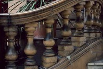 Newel posts and balusters are turned on a lathe to produce elegant and sophisticated designs.