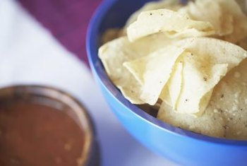 Salsa is low in fat and calories but often contains a large amount of sodium.