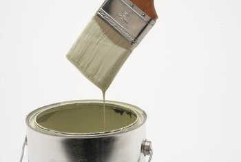 Flat paint rarely covers stains sufficiently on its own.