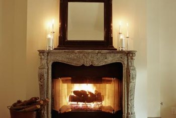 Fireplace hearths get lined with red or cement bricks, natural stones or just cement.