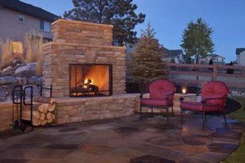 Keep in mind privacy issues and prevailing winds when designing your outdoor fireplace and patio.