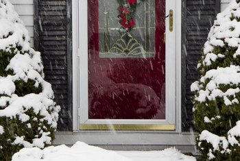 If you can hang a wreath on the front door, you probably have enough room for window treatments on your storm door.