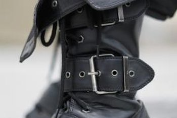 Look for ways to incorporate elements of the garment, like buckles, into the boot's design.