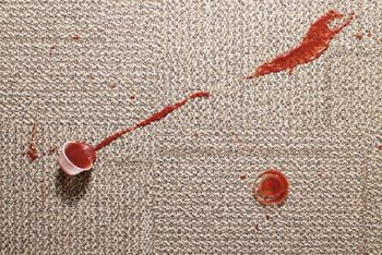 Treating stains quickly improves the appearance of carpet.