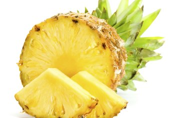 Pineapple contains the enzyme bromelein.