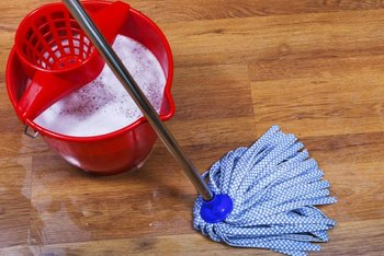Microfiber mops deep clean while conserving water.