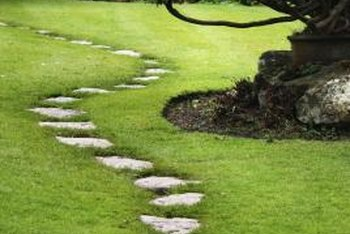Garden stepper paths flow naturally with gentle curves.