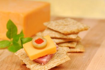Cheese with whole-grain crackers keeps blood sugar stable.