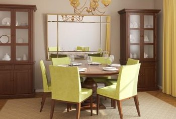 Amazing Heirlooms In A Glass Doored Hutch Give The Dining Room Character.