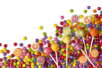 Sugar in candy raises triglyceride levels.
