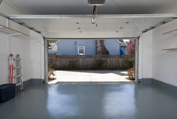 Leave the garage door open to help dry the floor quickly.