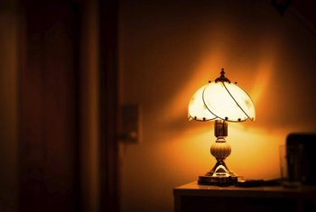 A lacquer coating can protect your antique lamp from rusting again.
