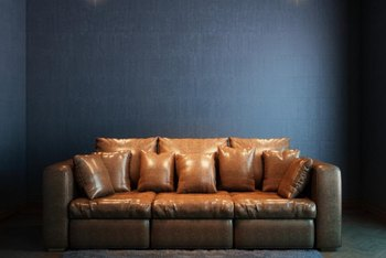 Blue and brown are natural earth tones that create a comfortable environment when used together in a room.
