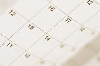 Decoupaging calendar pages turns them into decorative coverings for accessories and furniture.