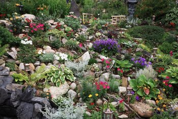 Rock gardens are ideal for sloped garden areas.