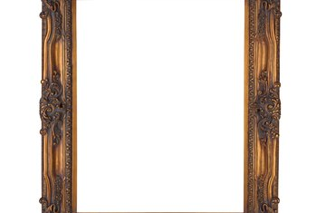 Carved frames are sometimes too deep to hang behind a door.