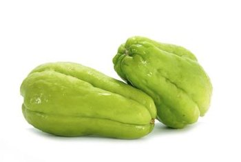 Chayote is often cooked with seasoning due to its mild flavor.