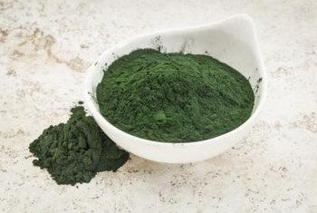 Spirulina contains 2 milligrams of iron per tablespoon.