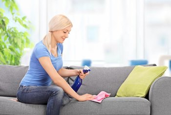 Keep a stain treatment suitable for your fabric in a spray bottle to quickly clean spills.