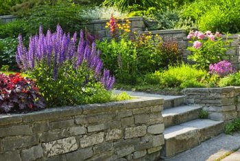 Add lights to the retaining wall for both safety and visual interest.