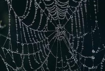 Halloween spider webs can be made from string and other household materials.
