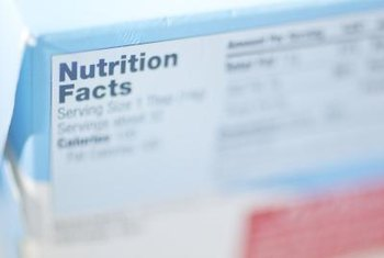 Nutrients on the label are based on one serving.