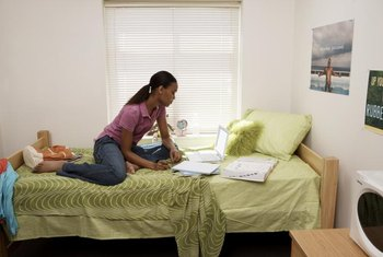 The twin XL mattress is the most popular size used in dorm rooms.