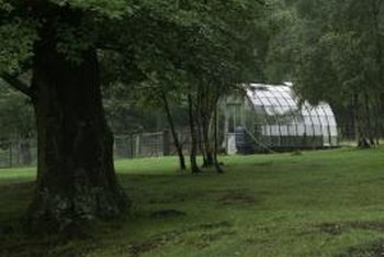 A greenhouse can be large or small.
