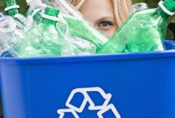 Recovered plastic bottles can become comforter filler or fleece products.