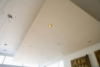 Trim hides the gap between recessed lights and the ceiling.