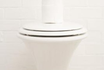 Clean your porcelain toilet frequently if you have hard water.