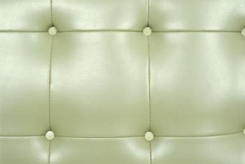 Light-green leather conveys a modern feel.