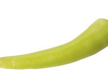Banana peppers grow up to 6 inches long.