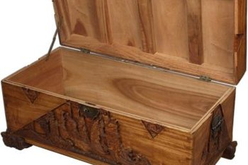 An Old Cedar Chest Adds A Touch Of Rustic Charm To Your Decor.
