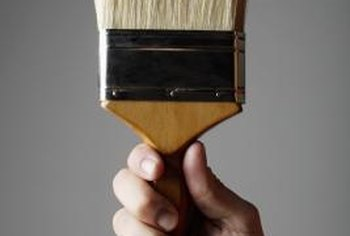 The right brush gives oil-based paint a smooth finish.