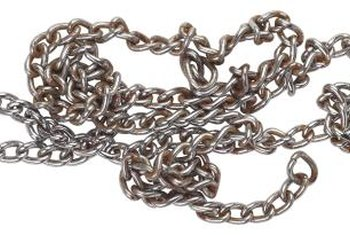 Chain is ideal for hanging shelves.