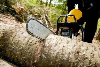 Keeping your saw's chain lubricated helps keep it cutting smoothly.