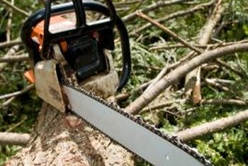 An overheated chain saw may not start.