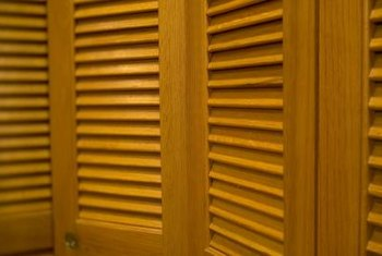 Pairs of bifold doors are commonly on closets to cover the wide door opening.