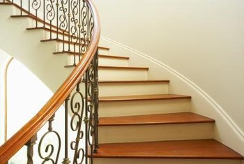 Treads with visible grain should match the existing stairway.