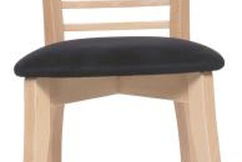 Chair legs are prone to crack on grain lines.
