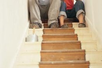 Get Rid Of Shabby Carpeting And Give Your Stairs New Life With Paint