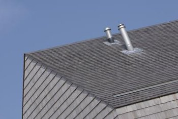 Flashing and vent boots stop leaks around drain, waste and vent pipes.