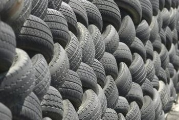 Using recycled tires in landscaping saves money on materials and reduces waste.